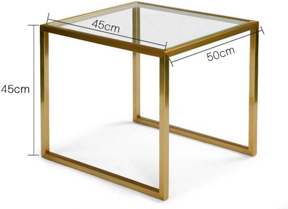 Mesas de centro MEIDUO Mesa de Centro Lateral anidada para la Sala de Estar, mesas de Metal Cromado con Tapa de Vidrio Templado Transparente Escritorio de computadora: Amazon.es: Hogar