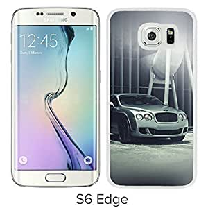 Newest and Grace Samsung Galaxy S6 Edge Case Design with Bentley Motors Car Park Art City White Case