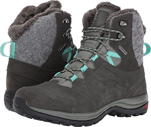 Suede Tex Boot Gore (Salomon Women's Ellipse Winter GTX Snow Boot, Castor Gray/Beluga/Biscay Green, 8 M US)