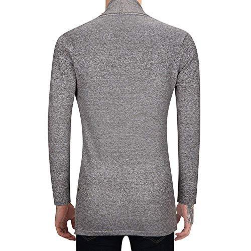 Élégant Pour Manteaux Cardigan Manches Longues Neck Très Tricoté Way Mode À Confortables Tailles Vêtements Coton Long Hommes Hx The Beige Txzft5