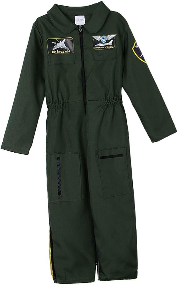 F Fityle Traje de Niños Fuerza Aérea Traje de Piloto Halloween ...