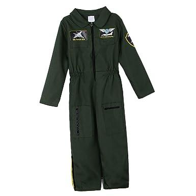 Baoblaze Traje de Niños Fuerza Aérea Traje de Piloto Aviador Halloween Disfraz de Niño Fresco Soldado: Amazon.es: Ropa y accesorios