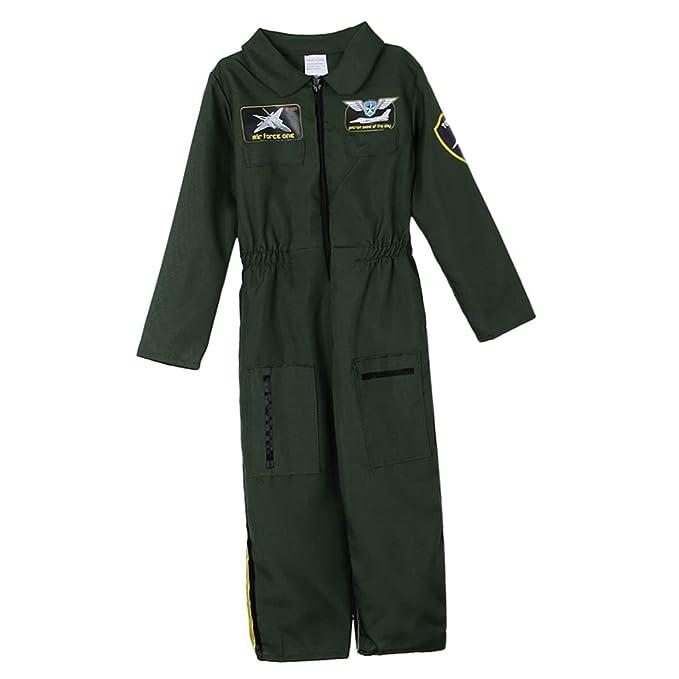 Amazon.com: Fityle Kids Air Force Pilot Jumpsuit Costume ...