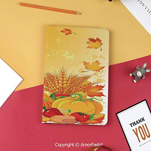 Case for Samsung Galaxy T820 T825 Slim Folding Stand Cover PU Tab S3 9.7,Harvest,Vivid Festive Collection of Vegetables Plump Pumpkins Wheat Fall Leaves Decorative,Earth Yellow Green Red