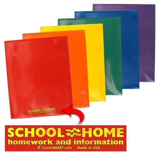 StoreSMART - Plastic School / Home Folders Archival Folders - Primary Colors 72 Pack - 12 Each of Six Bright Colors (SH900PCP72ENG) by STORE SMART (Image #7)