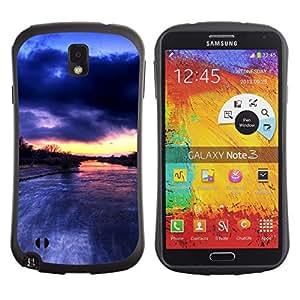 Fuerte Suave TPU GEL Caso Carcasa de Protección Funda para Samsung Note 3 N9000 N9002 N9005 / Business Style River Amazon Rain Clouds Nature