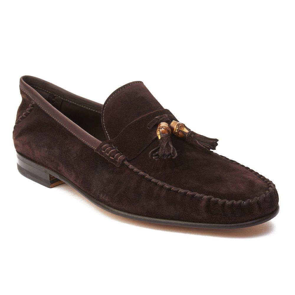 7615a781e6abda Top11  Gucci Men s Suede Tassle Loafer Shoes Dark Brown
