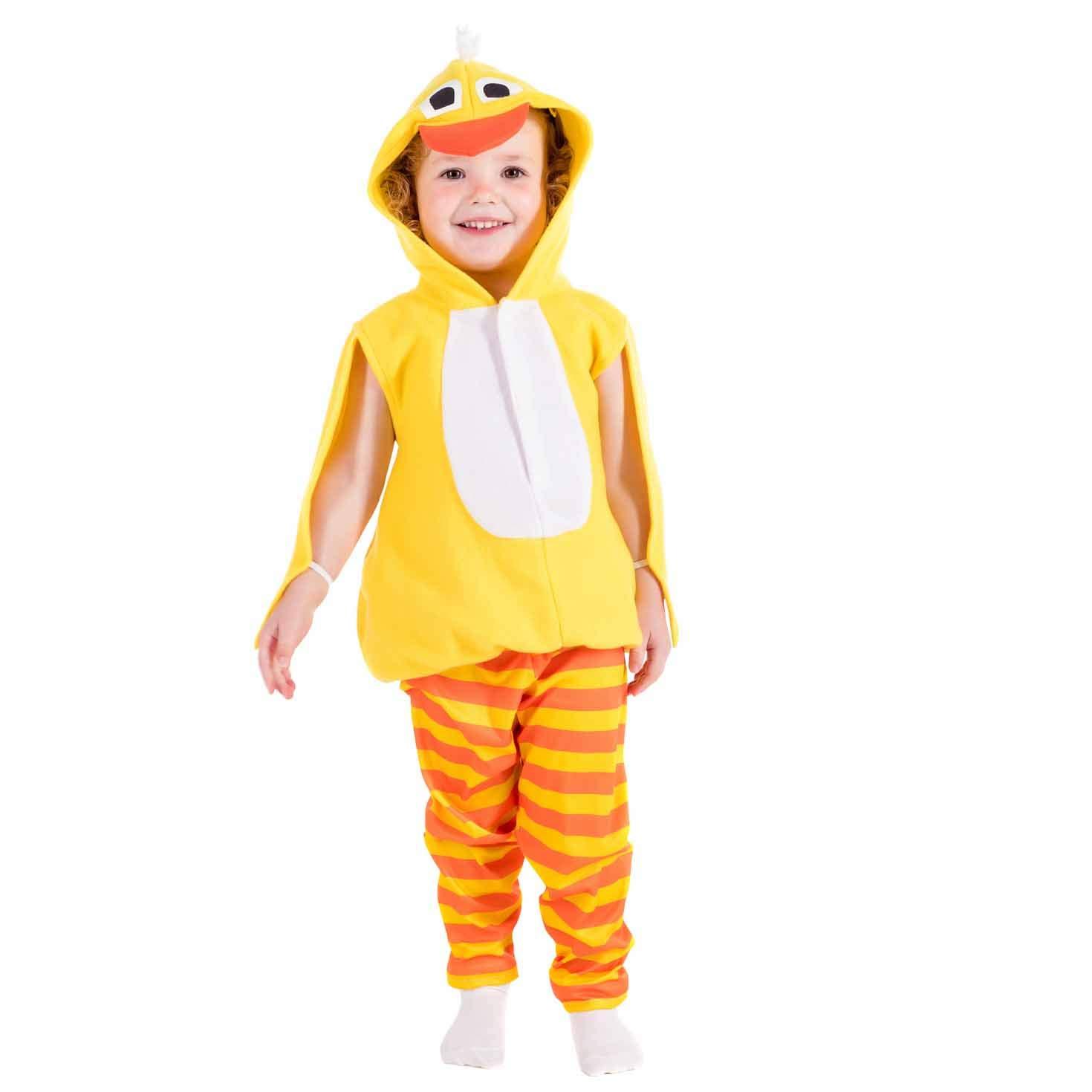 Fun Shack Amarillo Polluelo Disfraz para Niños y Niñas - S: Amazon ...