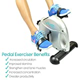 Pedal Exerciser by Vive - Portable Medical Exercise Peddler - Low Impact, Small Exercise Bike for Under Your Office Desk - Designed for Either Hands or Feet
