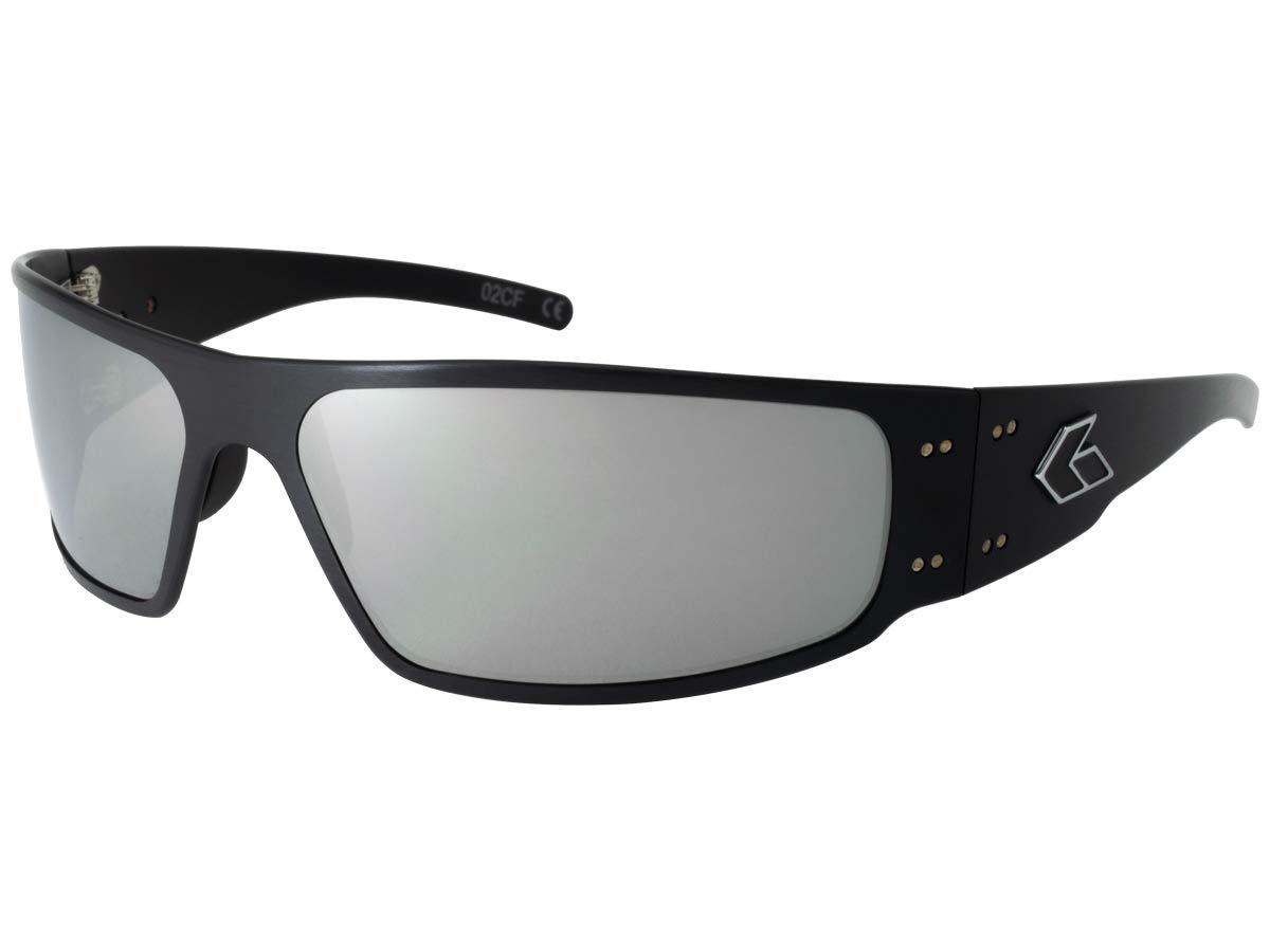 dc73ce3511a4 Galleon - Gatorz Eyewear, Magnum Model, Aluminum Frame Sunglasses -Black/Chrome  Lens