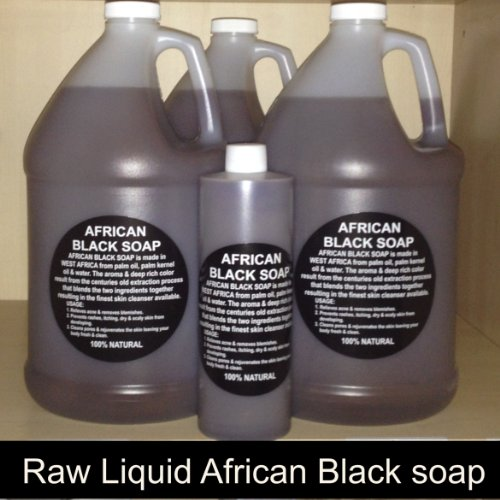 100% Pure Authentic Liquid African Black Soap From Ghana (Gallon) 128 Fl. Oz.