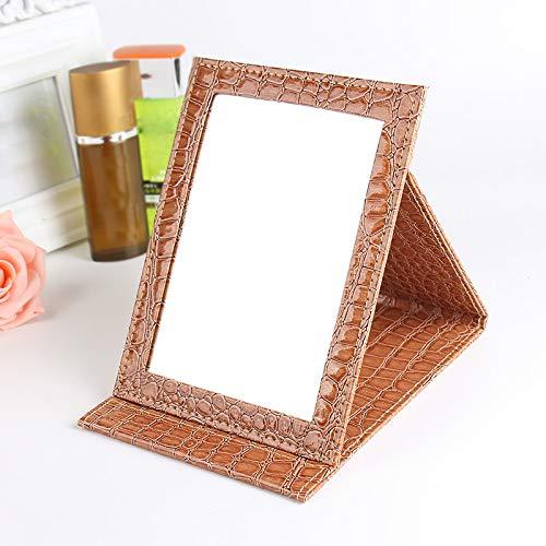 ('Gold Portable Foldable Makeup Mirror')