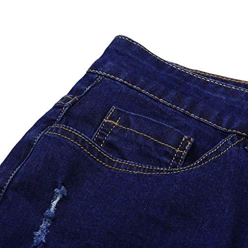 E Holes Battercake Glich Moda Unita Skinny Rt Slim Denim Comodo Stretch Pantaloni Dunkelblau Pants Tinta Uomo Da Cher Jeans Fit xxTFq5UwRr