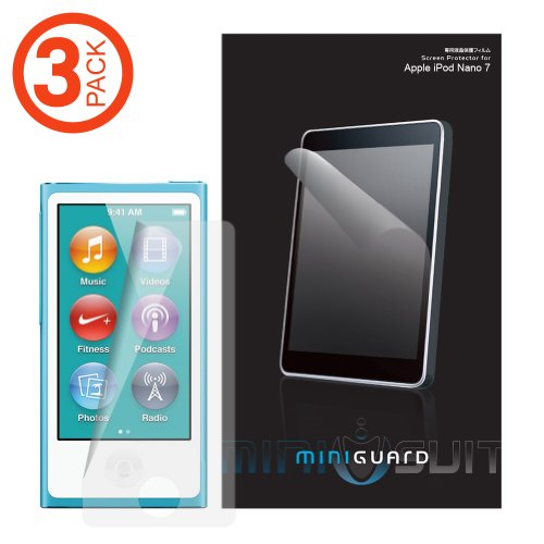 MiniGuard iPod Nano 7 or 8 / 7th or 8th Gen High Definition Ultra Clear Screen Protector 3 Pack for iPod Nano 7 or 8 / 7th or 8th Genth Gen / 7 or 8 / 7th or 8th Genth Generation (Newest Model) (Invisibleshield Ipod Touch 5)