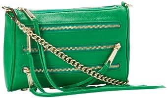 Rebecca Minkoff Mini 5-Zip H020I001 Convertible Cross-Body Handbag,Green,One Size