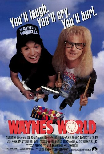 Image result for wayne's world poster