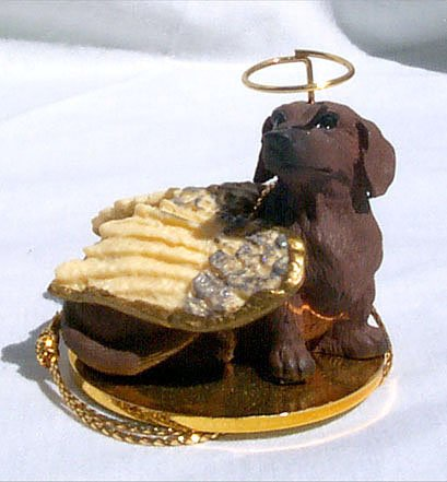 Dachshund Angel Dog Ornament - Red