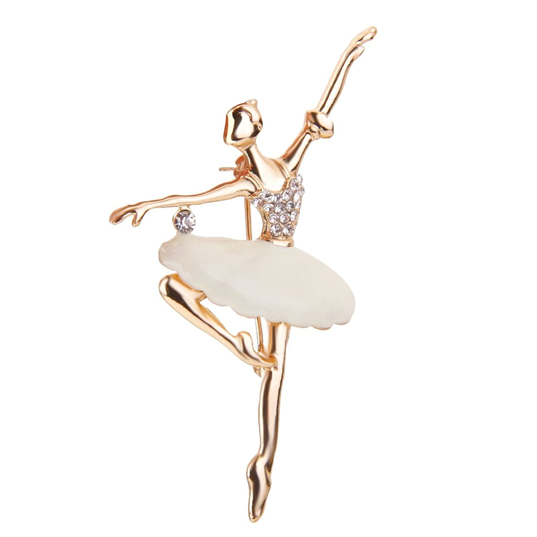 Broche Pin de Aleación Chica de Ballet Joyería Regalo para Mujer Novio