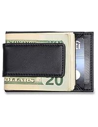 Card Holder & Money Clip - Genuine Leather, Best Minimalist Front Pocket Wallet