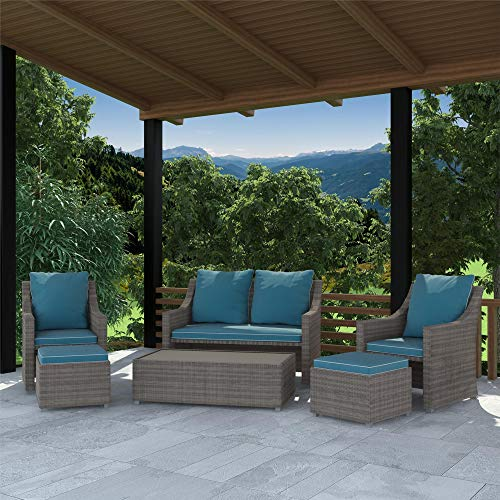 Cosco Outdoor Living 88145TGBE Cosco Outdoor Patio Set, Teal