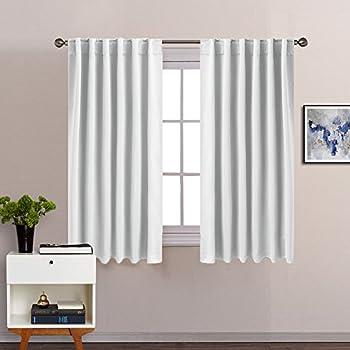 Amazoncom Blackout Curtains For Kitchen Window PONY DANCE - White blackout curtains