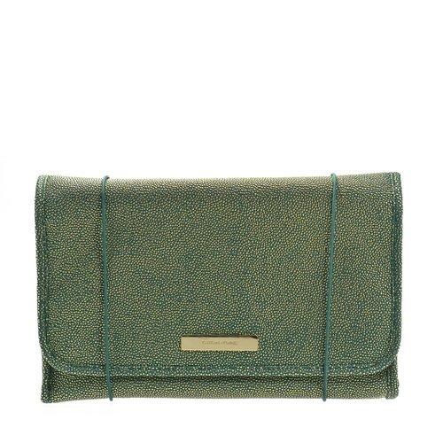 Trina Tartan + Twine Gwynn Check Green and Gold Hanging Valet Travel Cosmetic (Trina Pencil Holder)