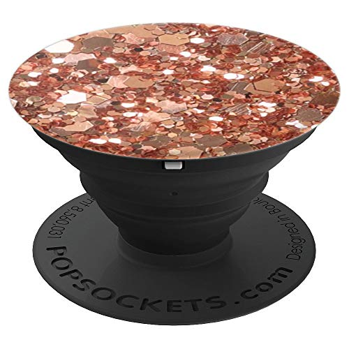 Golden, Rose Shine Sparkle, Shimmer PopSocket Grip - PopSockets Grip and Stand for Phones and Tablets ()