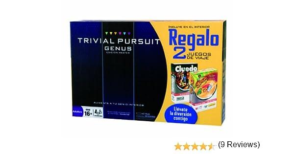 Juegos de Adultos Hasbro 98888500 - Trivial Pursuit Genus + Simon Viaje + Cluedo Viaje - Edición Master: Amazon.es: Juguetes y juegos