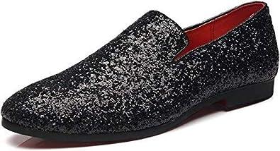 Men's Slip On Loafer Shoes Metallic