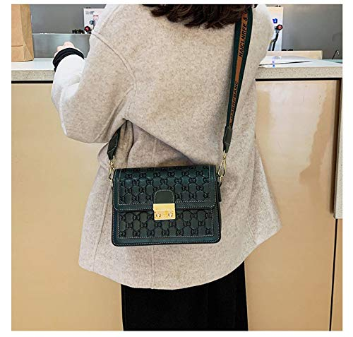 Incliné Lock Lady Vert Waaxxiaofang With Sac XEvpq