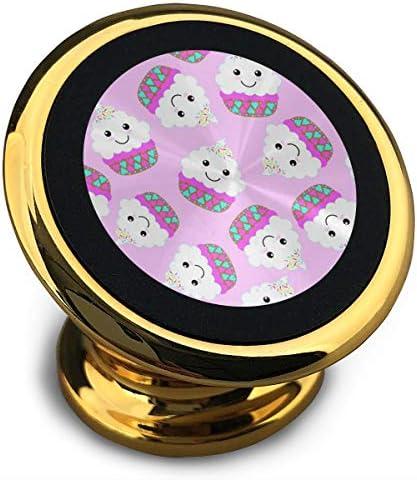 素敵なピンクのお菓子 携帯電話ホルダー おしゃれ 車載ホルダー 人気 磁気ホルダー 大きな吸引力 サポートフレーム 落下防止 360度回転
