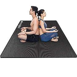 YUREN Große Yogamatte 200x130cm Breite Gymnastikmatte 10mm/15mm Dicke NBR Fitnessmatte für Pilates Gymnastik Training…