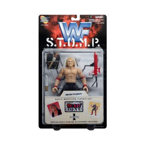Jakks Pacific, WWE 1997 STOMP Series, Brian Pillman Action Figure - Wwf Wwe Jakks Figure