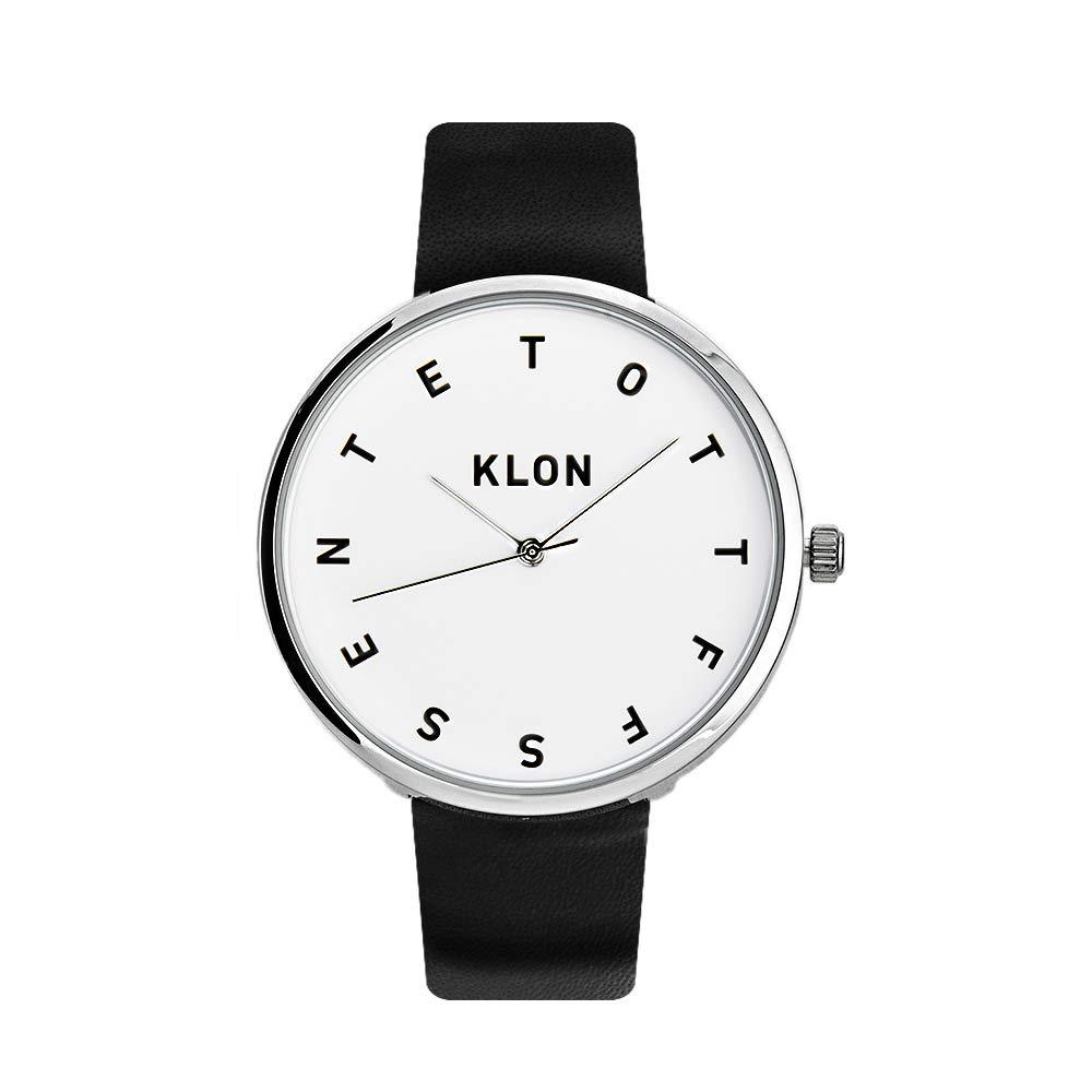 new product 91b83 6e3d1 Amazon | KLON ALPHABET THE WATCH 腕時計 黒ベルト シンプル ...