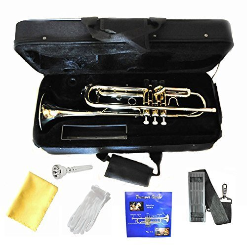 Hallelu HTP-200 Bb Trumpet with Pro Case by Hallelu Music