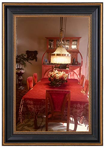 Space Art Deco 11x17 Ornate Gold Design Black Frame - Photo/Picture/Poster Display - Sawtooth Hangers - Wall Mount - Landscape/Portrait - -