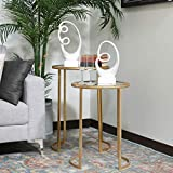 Urban Trends Round Table with Beveled Mirror and