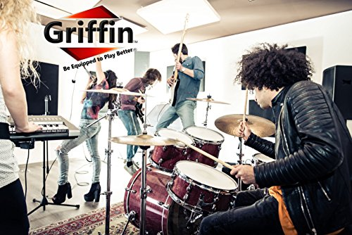 Popcorn Snare Drum by Griffin | Firecracker 10'' x 6'' Poplar Shell with Zebra Wood PVC|Soprano Concert Percussion Musical Instrument with Drummers Key and Deluxe Snare Strainer|Beginner & Professional by Griffin (Image #7)