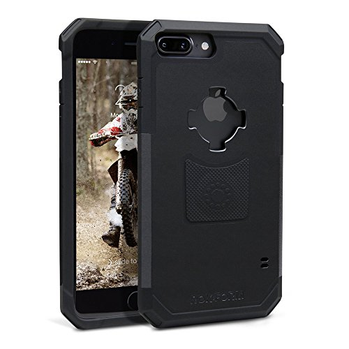 (Rokform Rugged Series iPhone 8 Plus Case / iPhone 7 Plus Case , Protective magnetic case with twist lock and universal magnetic car mount (Black))