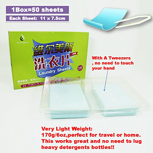 Tonelife 100 Sheets Scented Nano Technology Super Condensed Laundry Detergent Sheets 4-in-1 Laundry Pacs: Detergent, Stain Remover,Brightener.100 load Laundry Revolution by Tonelife (Image #2)