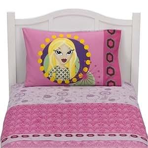 bratz lil boho girls twin sheet set home kitchen. Black Bedroom Furniture Sets. Home Design Ideas