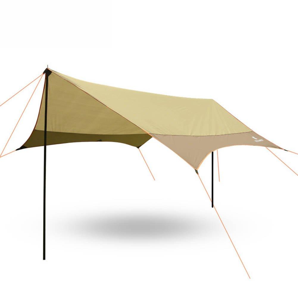 CLDBHBRK Campingplane Draussen Schuppen, Pergola Mehrspielermodus Sonnenschutz Anti-UV Tragbar Regenfest Klappzelt Braun