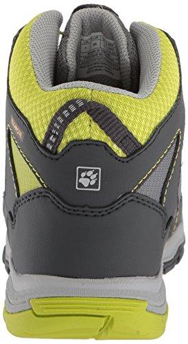 Jack Wolfskin Akka Texapore Mid B Wasserdicht, Zapatos de High Rise Senderismo Para Niños, Verde (Lime), 40 EU