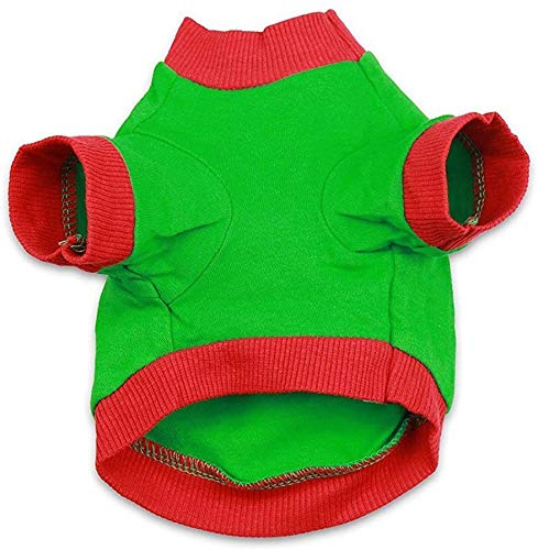 Ollypet Christmas Clothes for Dogs - Dog Christmas Costume Pet Warm Soft 100% Cotton T-Shirts - Festive Christmas Themed Dog Sweaters for Dogs and Cats, Autumn & Winter (S)