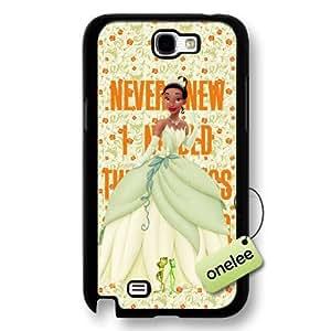 Disney Cartoon Princess and the frog Hard Plastic Phone Case for Samsung Galaxy Note 2 - Disney Princess Tiana Samsung Note 2 Case - Black