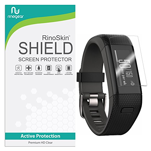 (6-Pack) RinoGear for Garmin Vivosmart HR Plus Screen Protector (Garmin Approach X40) Case Friendly Screen Protector for Garmin Vivosmart HR Plus Accessory Full Coverage Clear Film