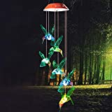 Wind Chime, Solar Hummingbird Wind Chimes