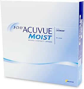 1-Day Acuvue Moist Contact Lens - 90 Pack, Clear, -0.5