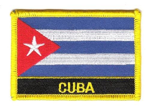 Aufn/äher Patch Kuba Schrift Fahne Flagge FLAGGENMAE/®