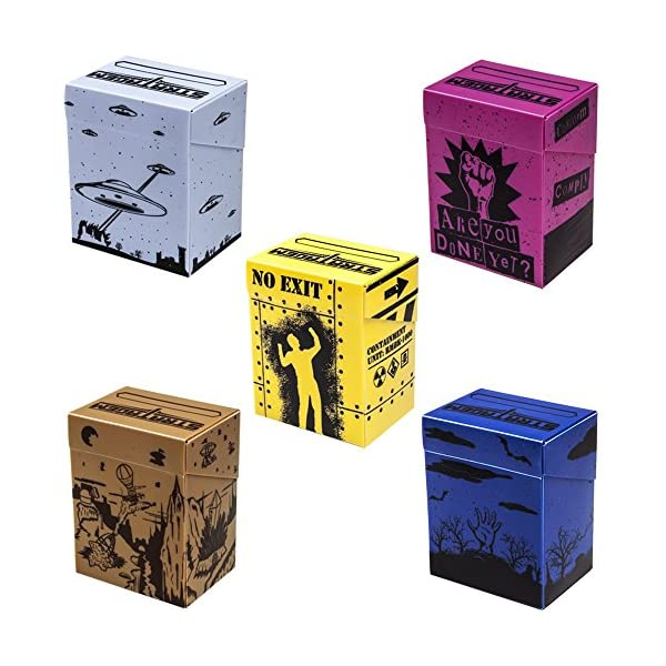 Deluxe Deckbox Multipack with Dividers - Set of 5 Customized Extra Large Deck Boxes for Trading Card Game & Collectible… 4